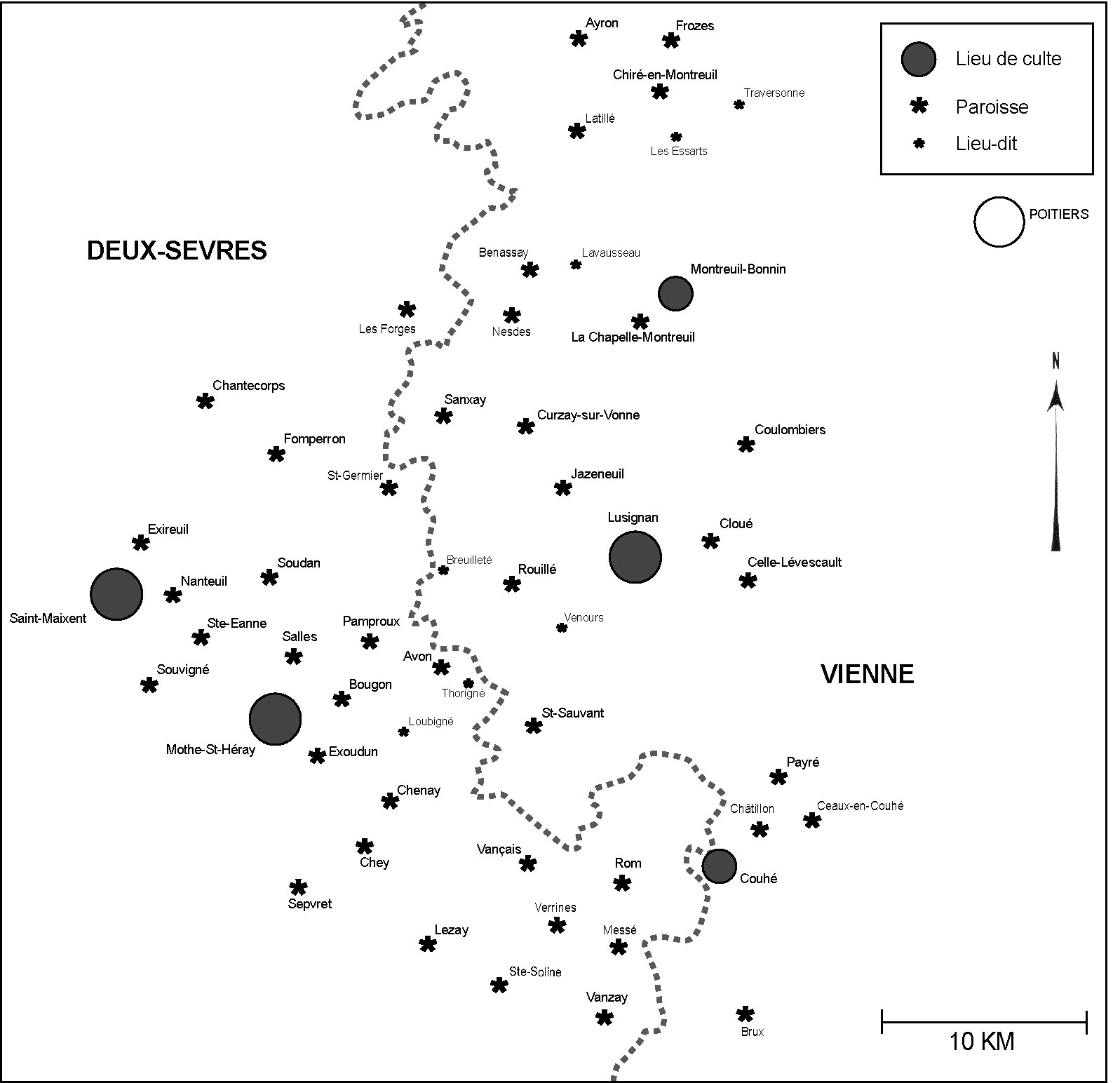 map of the area studied